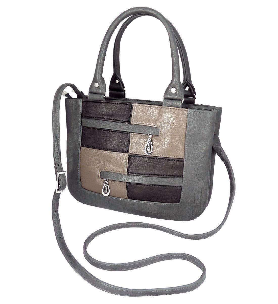 Женская сумка модель мозаика серая